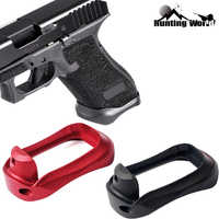 Táctico aluminio CNC Glock agarre adaptador Magwell para Glock 17 31 34 35 37 Gen 1-4 base de Caza