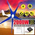 Mais novo 2000 W 12/24 V Controlador de Vento para Gerador de Turbina 3/5 Lâminas de Vento OptionWind Fit Presente para Casa + saco de acessórios de montagem