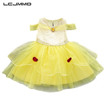 LCJMMO 2018 Summer Style Lace Princess Girls Dresses Baby Girl Party Dress Sleeveless Wedding Christmas Children Clothes 1-5Y