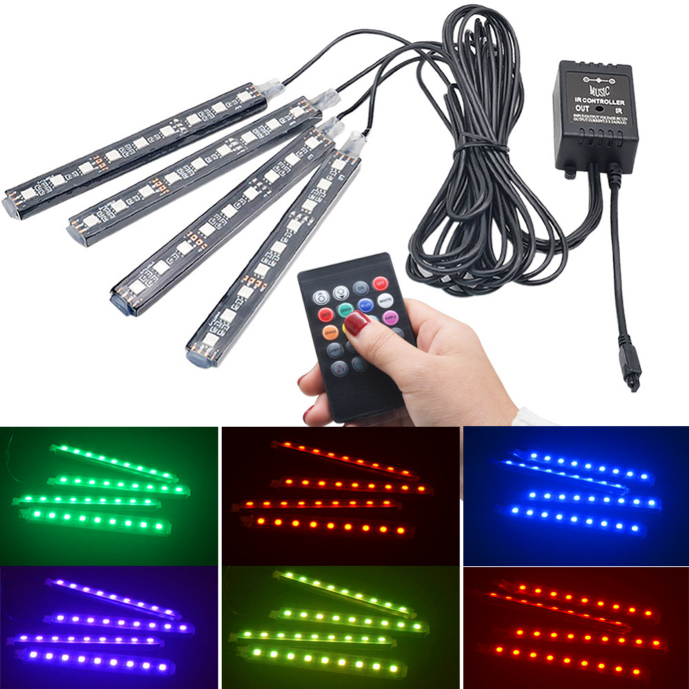car rgb led strip light car styling decorative automobile atmosphere lamps car interior light. Black Bedroom Furniture Sets. Home Design Ideas