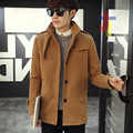 2017 Autumn Winter Men Wool Coats Jackets Single Breasted Overcoat Stand Collar Coats Short Trench Casual Male Coats  JST105