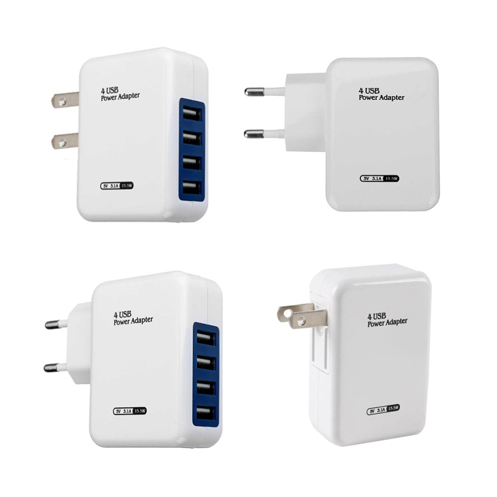 Usb Ports Ac Eu / Us Plug Travel Charger Usb Power Charger Adapter Hub For Samsung For Iphone Huawei Sony Lg