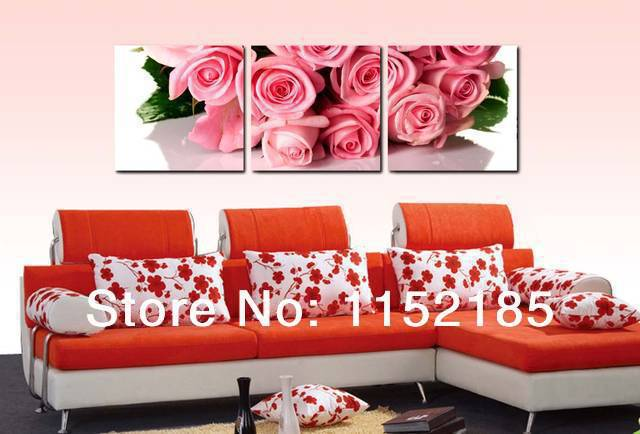 red rose classical ture love flower canvas wall art home decorate