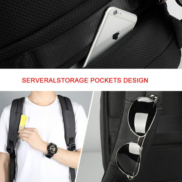 Travel Male Mochila School Backpack with USB Charging Port for Women Men Student Bag Bookbag Fits 15.6 Inch Laptop and Notebook 3