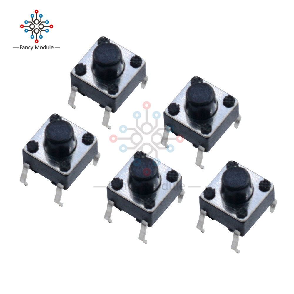Switches 100pcs 6*6*6mm Light Touch Switch Dip4 On/off Push Button Touch Micro Tact Switch Blue Keys Button Dip 4pin 6x6x6 New Varieties Are Introduced One After Another