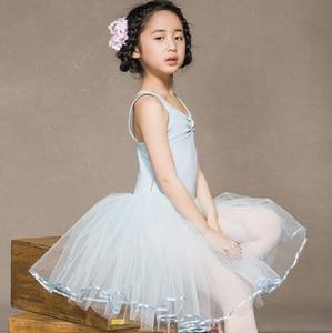 Image 2 - Robe de danse de Ballet pour filles, jupe de danse blanche, pour enfants, gilet, justaucorps, exercices quotidiens, haute qualité, Ballet en coton, nouveauté 2020