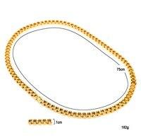 MCSAYS Для мужчин S Jewelry Цепочки и ожерелья Хип хоп Цепочки и ожерелья St. сталь CZ Куба цепи часы пряжки ремня для Для мужчин подарки 4gm