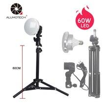Alumotech без мерцания 60 Вт 5500 К светодиодный фотостудия лампы фотографии лампы дневного света фото свет светодиодный фотографии смартфон съемки