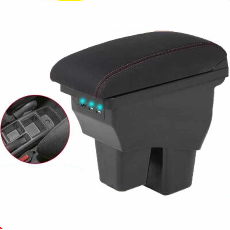 Armrest box For Honda Fit Jazz 2014 2015 2016 2017 2018 central Console Arm Store content box car styling