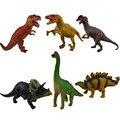 6 шт. большой звук динозавра Юрского имитационная модель игрушка пластмассовая Tyrannosaurus Стегозавр Подарков для детей Фигурку Игрушки