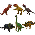 6 pcs large sound Jurassic dinosaur simulation model toy plastic Tyrannosaurus Stegosaurus Gifts for children Action Figure Toys