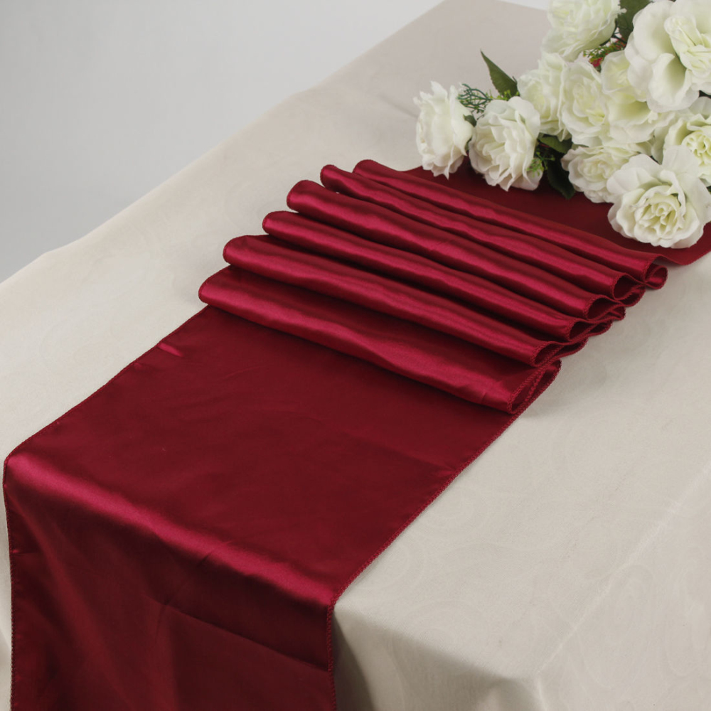 Wholesale For 10/lot Burgundy 30cmX 275cm Satin Table Runner Wedding  Decoration 21 Colors In Table Runners From Home U0026 Garden On Aliexpress.com  | Alibaba ...
