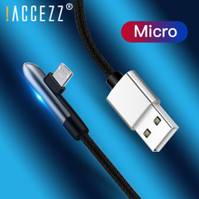 !ACCEZZ 90 Degree Micro USB Cable Fast Charger Data For Samsung S6 S7 Xiaomi mi4 Huawei Sony Android Mobile Phone Charging Cord
