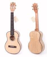 23 Гавайские гитары укулеле с твердыми ель Топ/гнилые клен Средства ухода за кожей, 23 Концерт электроакустическая Гавайские гитары укулеле