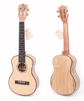 23 ukulele With Solid Spruce Top/Rotten Maple Body ,23 Concert Electric Acoustic Ukulele With 2 Band LCD Pickup