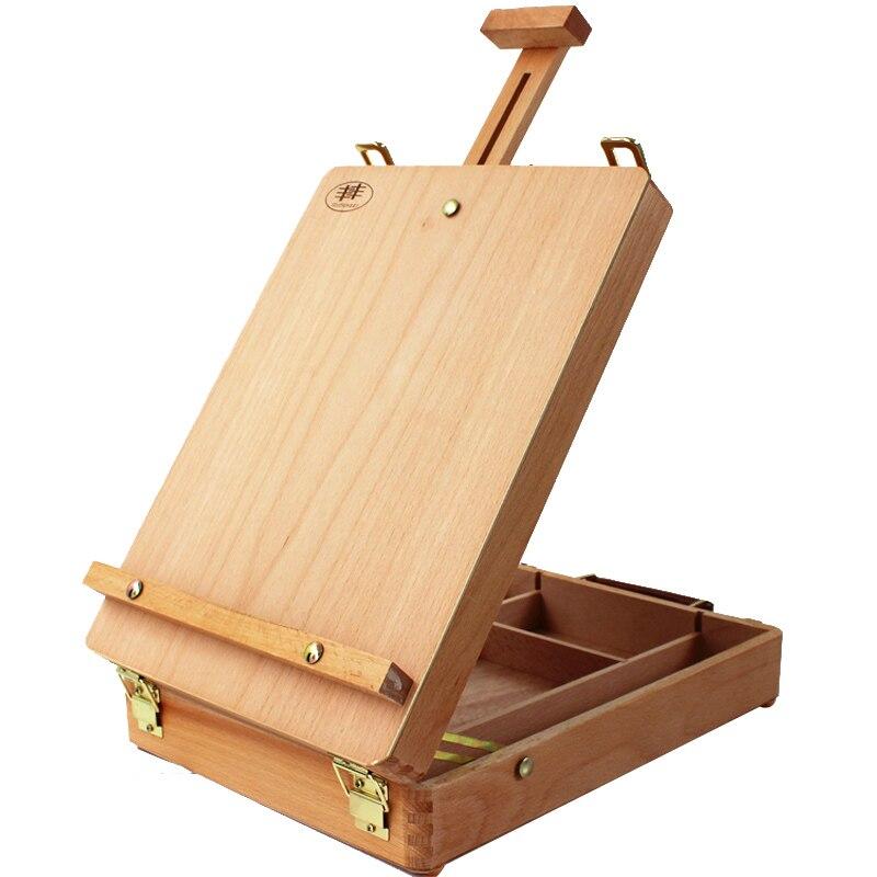 Bogliano bureau portable émail rouge boîte de peinture en bois esquisse croquis débutant professionnel multi-usages boîte de peinture