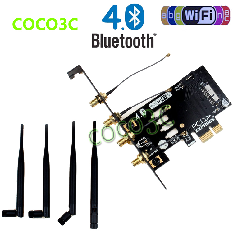 Laptop Wireless Network Card adapter PCI e to 3G bluetooth 4.0 WIFI BCM94360CD module for macbook Pro/Air