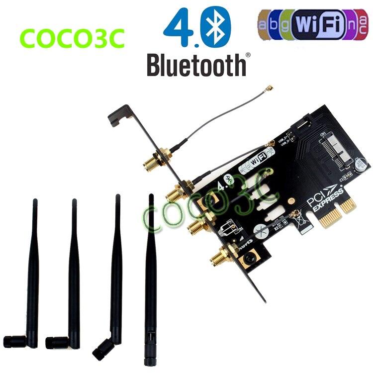 Ordinateur portable sans fil carte réseau adaptateur PCI-e à 3G bluetooth 4.0 WIFI BCM94360CD module pour macbook Pro/Air