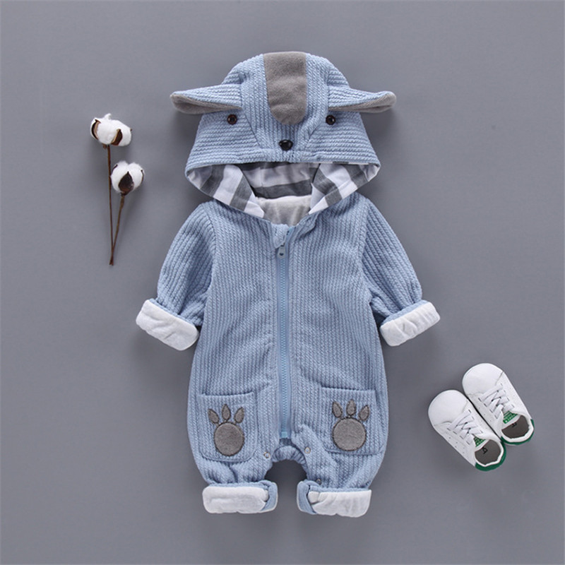 Fashion Animal Baby   Rompers   koala Infant Clothing Baby Boy Girl Clothes Cute Cartoon Bear Spring autumn Warm Jumpsuit Costume