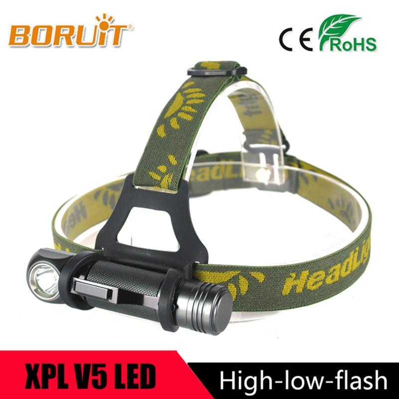 BORUIT Marke 1000 LM XPL V5 LED Scheinwerfer Mini Armygreen Taschenlampe Outdoor Sport Scheinwerfer Für Camping Angeln Jagd Kopf Lampe