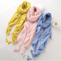 Lightly Free Shipping Plain Cotton Linen Touch Scarf Muslim Hijab Head Wrap Quality Scarves Wholesale Retail