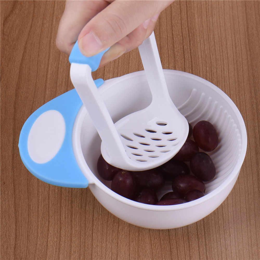 Conjunto Frutas 1 VegetablesBowl para Fazer Comida para Bebé Preparar Tigela de Vapor e Espremedor de Alimentos Frescos Seguro BPA Livre Bebê Comida moinhos
