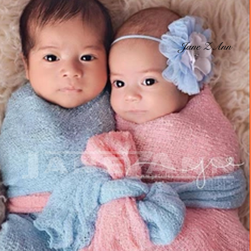 Jane Z Ann Newborn Photography Wraps Baby Stretch Knit Rayon Wrap Swaddle Infant Photo Shoot Blankets Newborn Photography Props