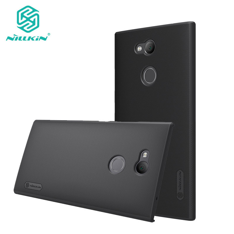 Nillkin Case for Sony Xperia L2 Frosted Shield Hard Plastic Back Cover sFor Sony L2 Case with Screen Protector