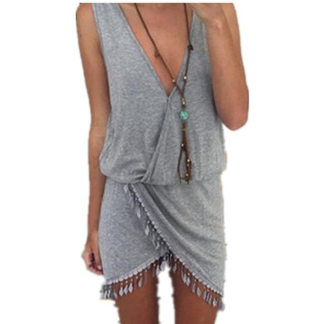 Bohemian Tassel Women Casual Dress