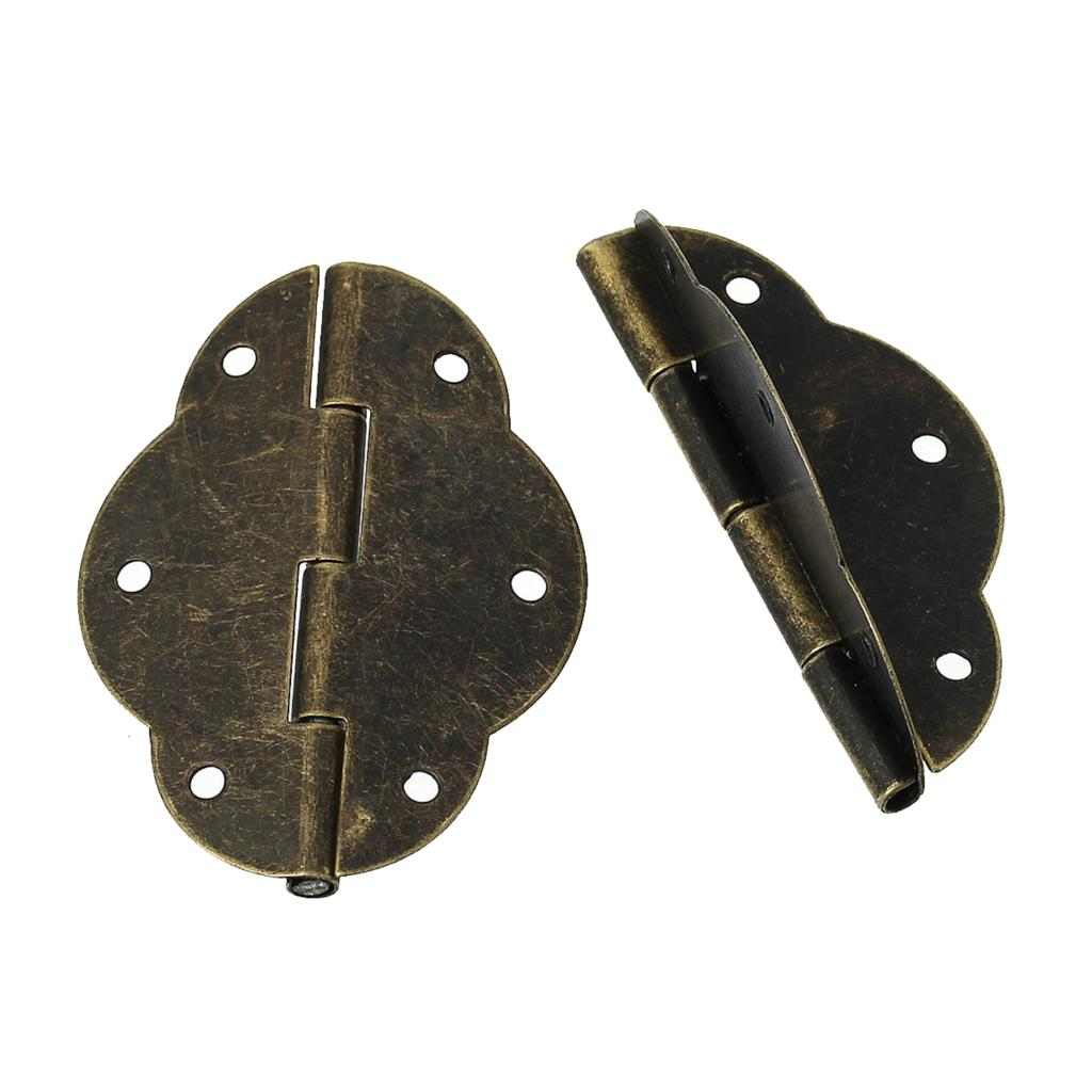 Door Butt Hinges(rotated from 0 degrees to 270 degrees)Antique Bronze 6 Holes 5.6cm x 4.1cm,10 PCs 2016 new rustico vintage brass furniture knobs antique bronze shaky drop ring drawer shoe cabinet dresser cupboard door pull knob handle