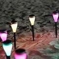 6 pcs Solar Power LED RGB Paisagem Ao Ar Livre Led Solar Luz Festival Lâmpada Decoração da Festa de Aniversário Do Ambiente de Luz Solar