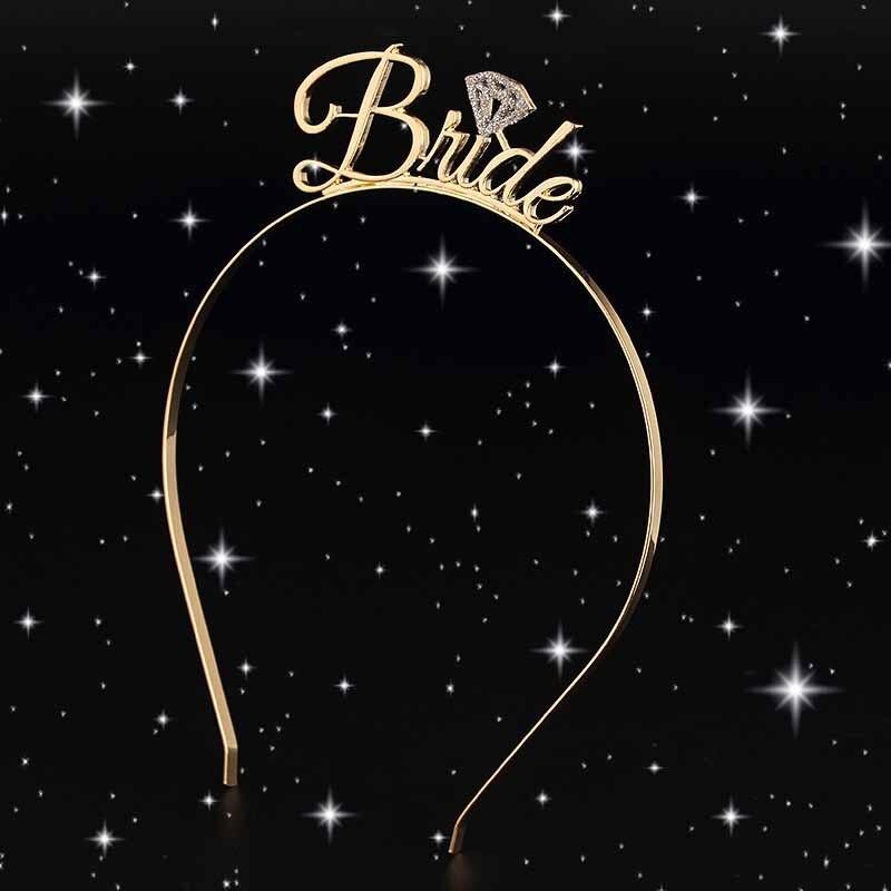 Team Bride Bridesmaid Tiara Crown Headband Bachelorette Hen Party Bride to Be Wedding Bridal Shower Girls night Decoration Gift