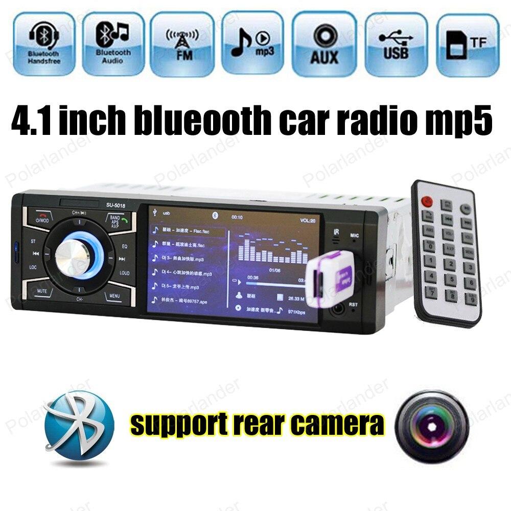 1din Bluetooth autoradio stéréo 4 pouces HD écran MP5 lecteur Support/FM USB/SD AUX in/caméra arrière