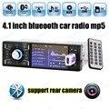 1din Bluetooth de Radio Estéreo Del Coche de 4 pulgadas HD de pantalla MP5 Ayuda del jugador de Apoyo/FM USB/SD AUX IN/Trasero cámara