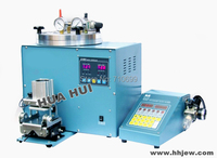 Digital Vacuum Wax Injector, wax machine with clamp Device and control box, Jewelry mold making machinery