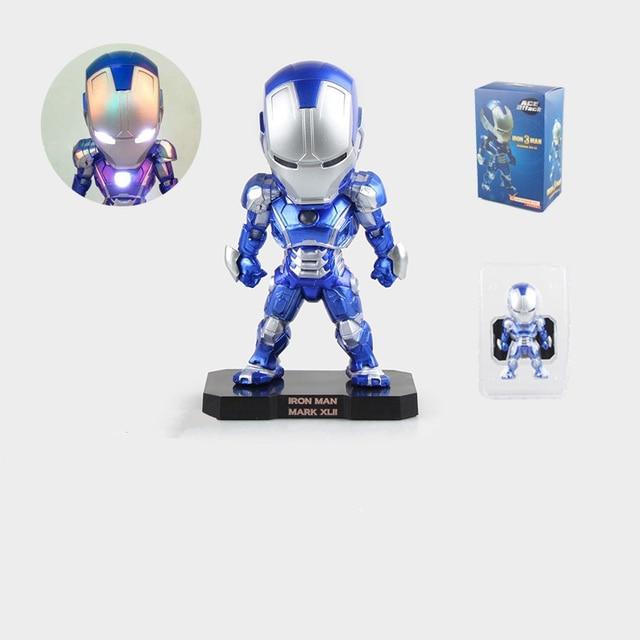Action figure De Avengers Ironman 3 blauw kleur verlichting leuke ...
