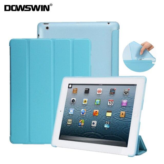 case for ipad 2 3 4 soft tpu leather case for apple ipad 2 smart