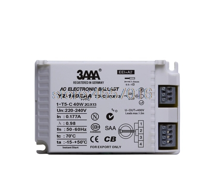 3AAA Instant Start AC Electronic Ballast YZ-140EAA FC /T5-C 40W T5  Looped Fluorescent Lamp3AAA Instant Start AC Electronic Ballast YZ-140EAA FC /T5-C 40W T5  Looped Fluorescent Lamp