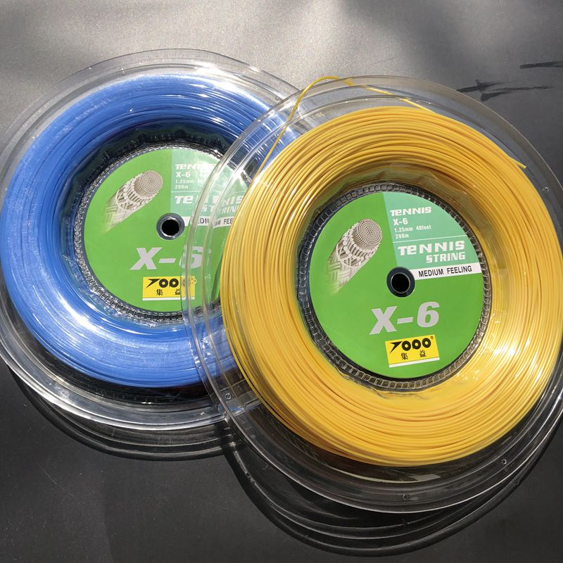 1 Reel TOPO X6 Hexagon tennis string 1.25mm 200M tennis rackets string durable tennis strings zarsia 200m flash nylon tennis string 16g 1 35mm multifilamen tennis rackets string squash strings synthetic tennis strings