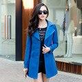 Женская Мода Куртки Кожа Длинное Пальто Развивать нравственность Двубортный Женские Кожаные Куртки Плюс Размер Кожа