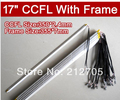 Free Shipping 10PCS 17 inch LCD monitor lamp backlight dual lamps CCFL with frame,CCFL with cover,CCFL:350*2.4mm,FRAME:355*7mm