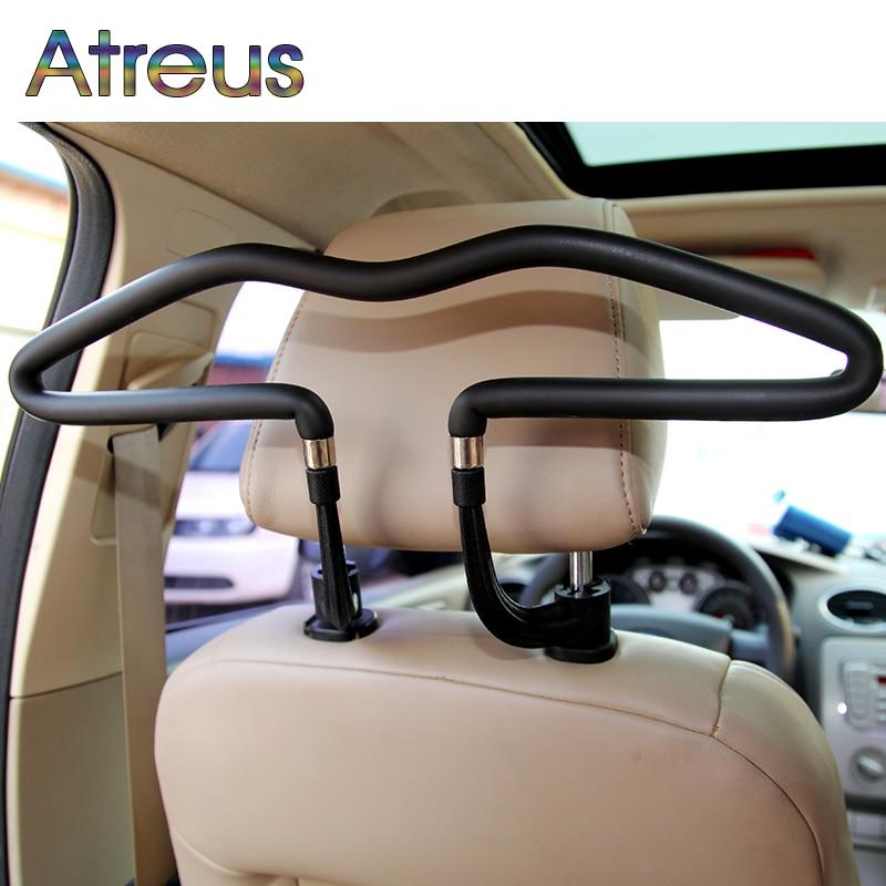 Atreus 1Pcs Car headrest stainless steel hanger for Renault Megane 2 Captur Mitsubishi ASX Suzuki Vitara Jeep Wrangler Peugeot