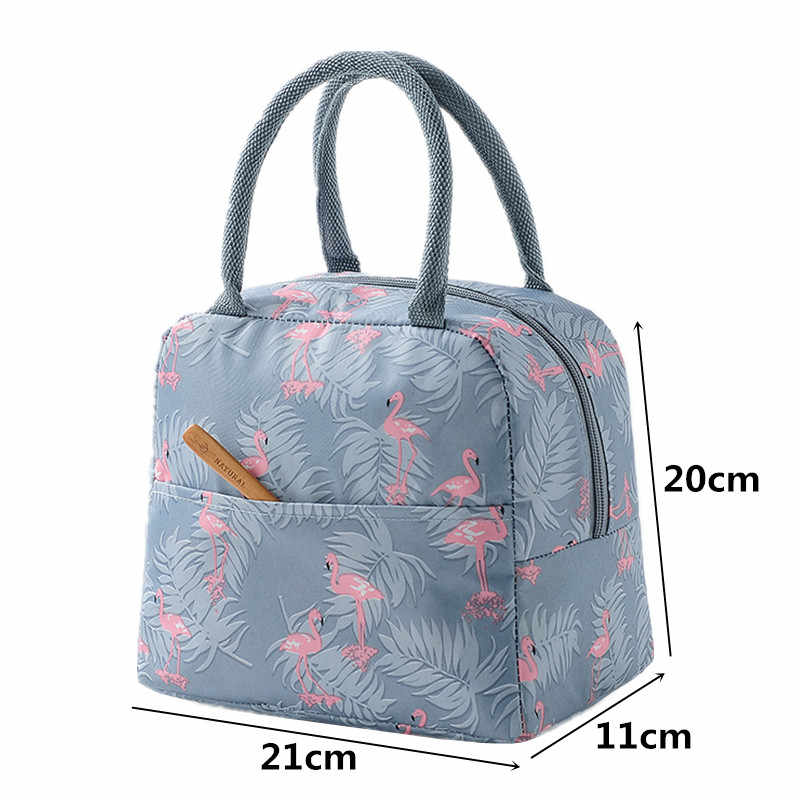 96d4b8a3c452 Waterproof flamingo Thermal Lunch Bag for Women Kids Men Office work  Insulated Cooler Storage pack Adults Picnic Food Box Tote