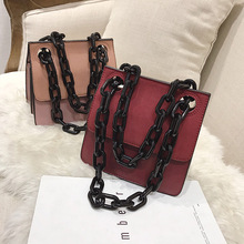Bolsa Feminina Womens Handbags 2018 New Acrylic Chain Small Shoulder Bag Female Fashion Mini Flap