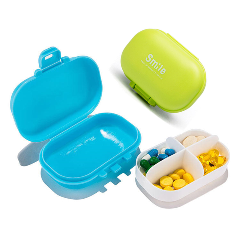Mini Pills Organizer Case Weekly Pillbox Storage Container Small Health Care Diet Medicine Holder Anti-dust Equipments Daily Use