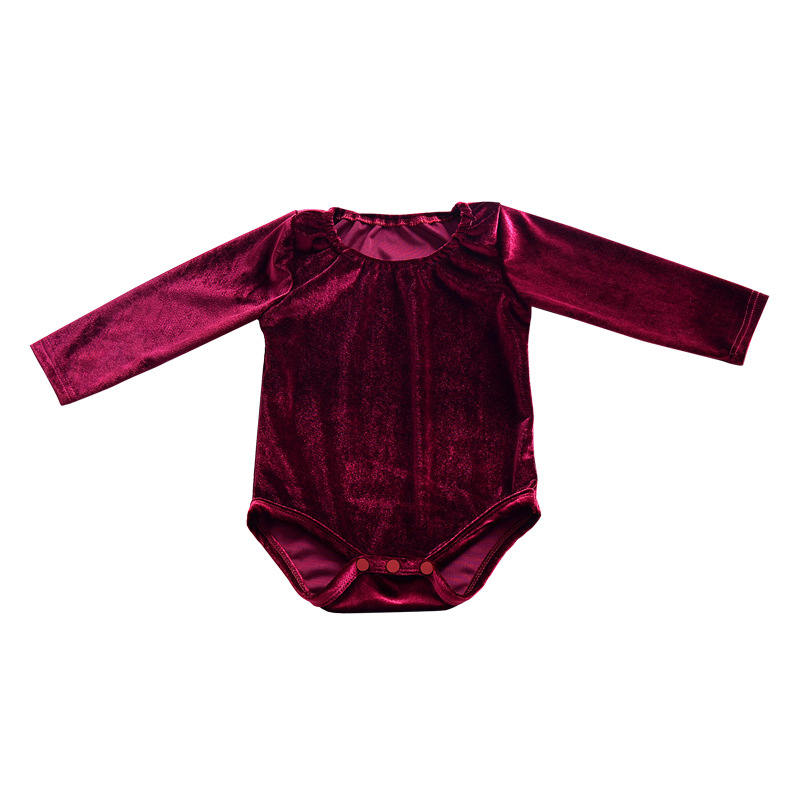 Cute Newborn Baby Girl Romper Clothes 0-3y Infant Bebes Princess Girls Gold Velvet Baby Rompers Jumpsuit Outfit