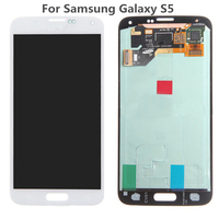 TOP Quality Black White Digitizer Assembly For Samsung Galaxy S5 I9600 SM G900 G900F G900R G900F