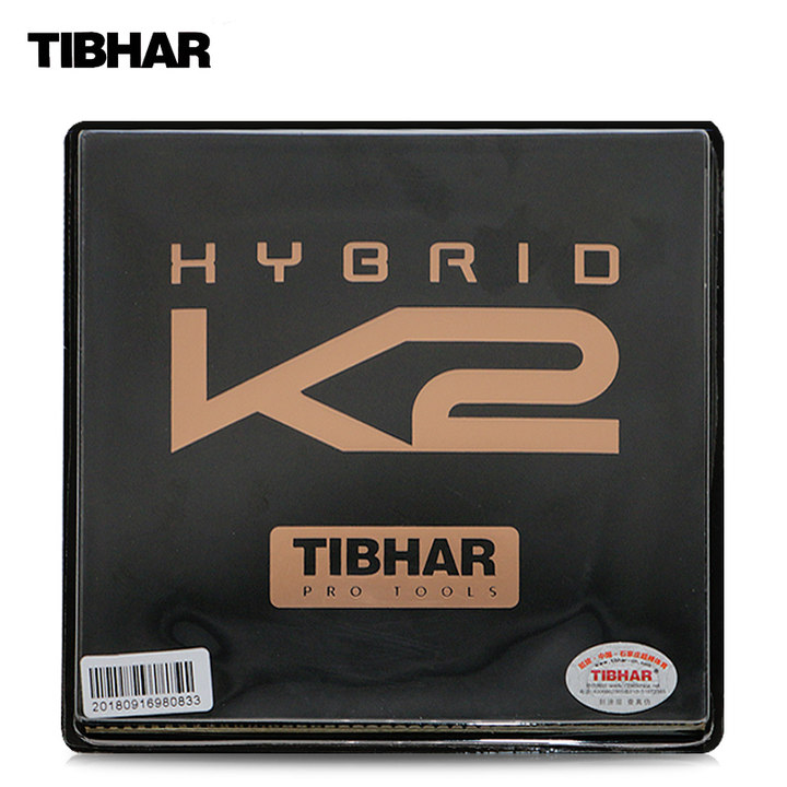 TIBHAR HYBRID K2 Sticky rubber German Hard Sponge Speed Spin Pips in Table Tennis Rubber Ping