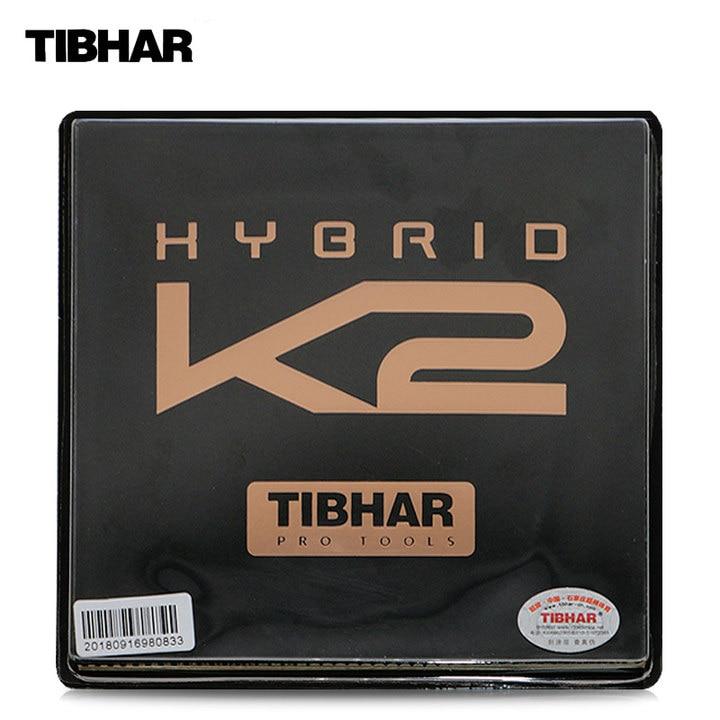 TIBHAR HYBRID K2 Sticky rubber German Hard Sponge Speed Spin Pips in Table Tennis Rubber Ping