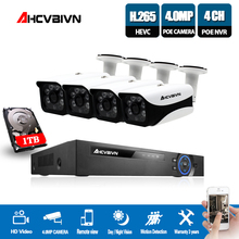 CCTV 4CH NVR POE 48V 4.0MP Security Camera Surveillance System HD IP Camera In/Outdoor Day/Night Vision Video System potato sorting in machine vision system